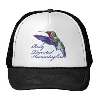Ruby Throated Hummingbird Scripted Hat