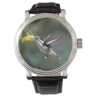 Ruby-throated Hummingbird Wrist Watches