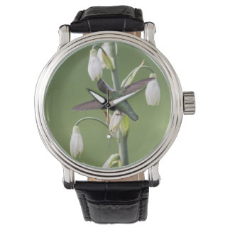 Ruby-throated Hummingbird Wristwatch