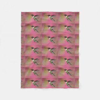 Ruby Throated Hummingbirds Fleece Blanket