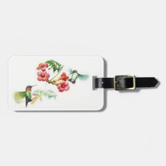 Ruby Throated Hummingbirds. Luggage Tag