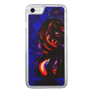 Ruby Whirlwind Abstract Carved iPhone 7 Case