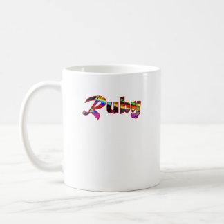 Ruby's coffee mug