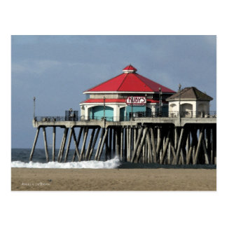 Ruby's Diner - Huntington Beach Pier Postcard