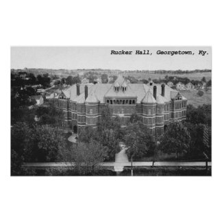 Rucker Hall, Georgetown College, Kentucky Poster