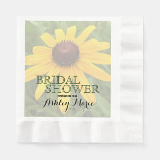 Rudbeckia Flower Photograph | Bridal Shower Disposable Napkin