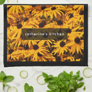 Rudbeckia Fulgida / Orange Coneflower Tea Towel