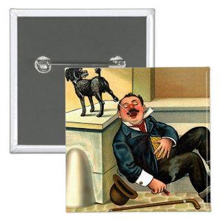 RUDE AWAKENING - Vintage Dog Art 15 Cm Square Badge