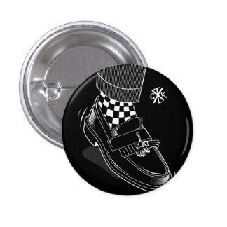 Rude boy 3 cm round badge