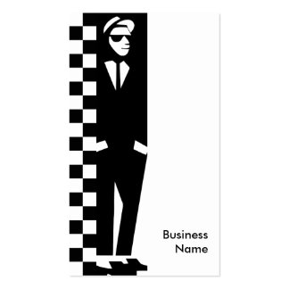 rude boy ska business card template