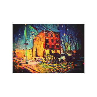 Rude Boy USA Abstract Art - Shanty Bronx Canvas Print