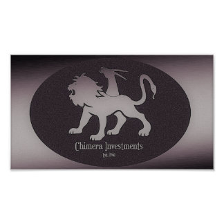 Rude Boy USA - Chimera investments Logo Poster