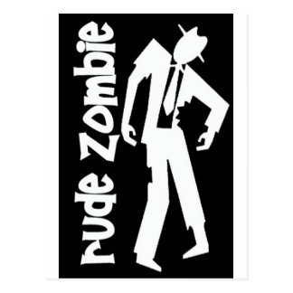 Rude Boy Zombie Postcard