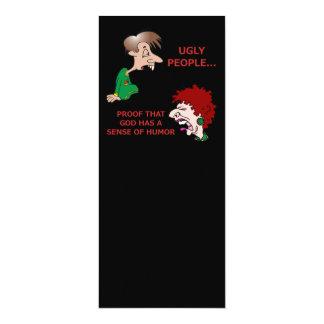 Rude But Funny Ugly People God Sense of Humor 10 Cm X 24 Cm Invitation Card