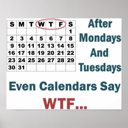 Rude Calendar Full Poster