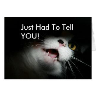Rude Cat Custom and Sayings Greeting Card
