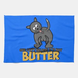 Rude cat tea towel