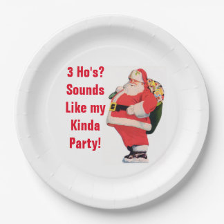 Rude Christmas Plates 9 Inch Paper Plate
