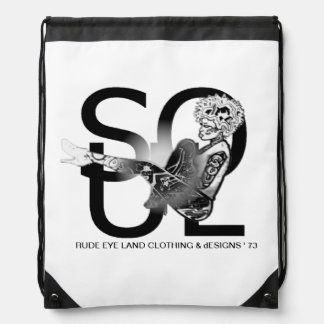 RUDE EYE LAND dESIGNS 1973 Drawstring Bag