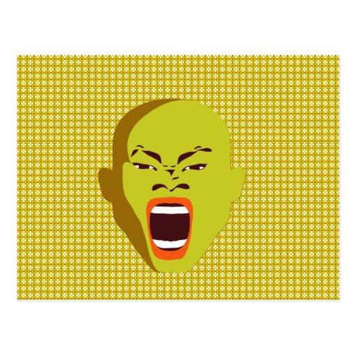 Rude Ink design Postcards screaming face