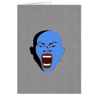 Rude Ink shop Blue Face scream greeting cards
