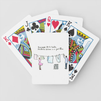 Rude Laundry Joke Good Blow Bicycle Playing Cards