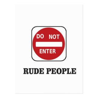 rude ones postcard