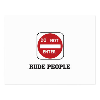 rude people dne postcard
