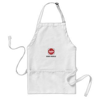 rude people dne standard apron