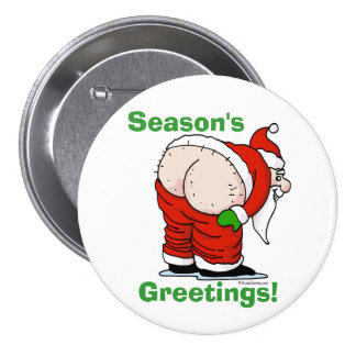Rude Santa Button