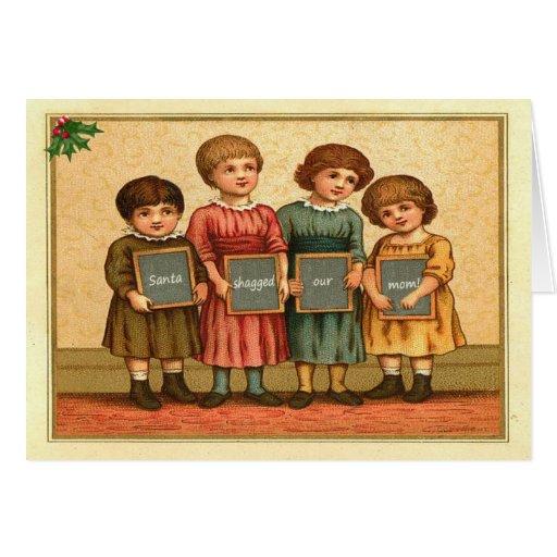Rude Santa Claus Greeting Cards