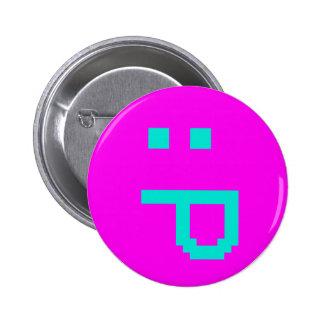 rude smiley 6 cm round badge