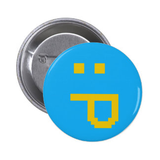 rude smiley pinback button