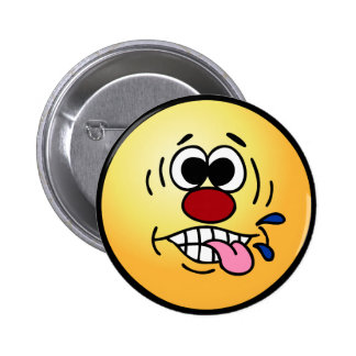 Rude Smiley Face Grumpey 6 Cm Round Badge