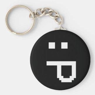 rude smiley key chain