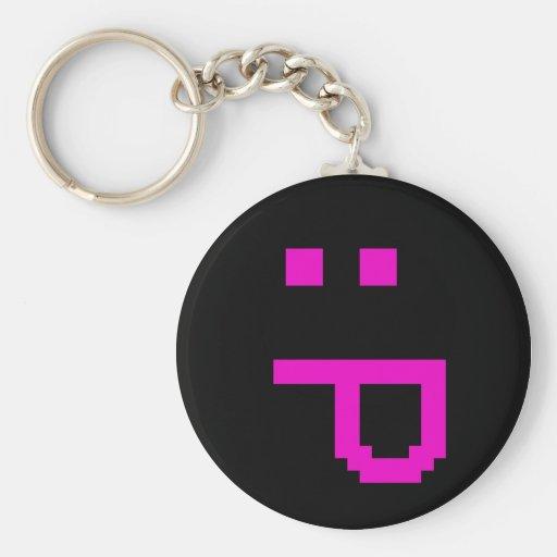 rude smiley keychain