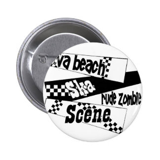 Rude Zombie ska scene 6 Cm Round Badge