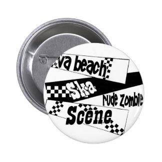 Rude Zombie ska scene Pinback Button