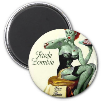 """Rude Zombie """"The First Bite"""" 6 Cm Round Magnet"""