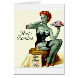 """Rude Zombie """"The First Bite"""" Greeting Card"""