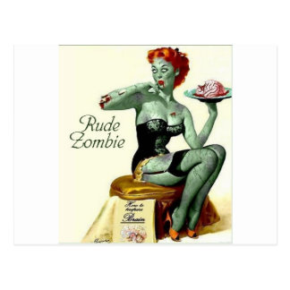 """Rude Zombie """"The First Bite"""" Postcard"""