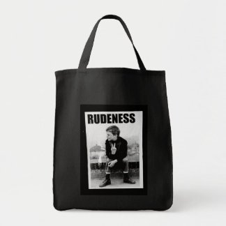 Rudeness Grocery Tote Bag