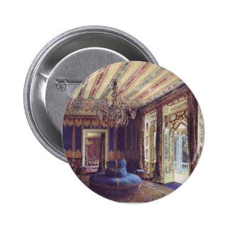 Rudolf Alt-Turkish Salon,Villa Hügel, Hietzing 6 Cm Round Badge