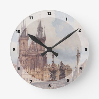 Rudolf Alt- View of the Old Town Square Wallclocks