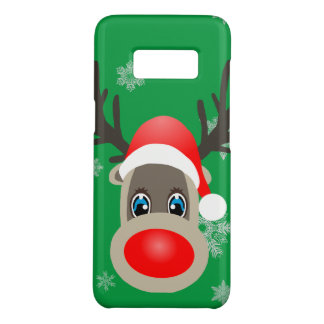 Rudolf - Christmas reindeer Case-Mate Samsung Galaxy S8 Case
