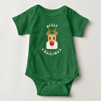 Rudolf: Merry Christmas Baby Bodysuit
