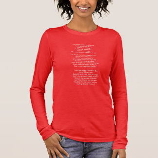 Rudolf the red-nosed reindeer song lyrics long sleeve T-Shirt