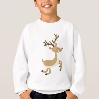 Rudolf with Christmas Lights, perfect Xmas Gift Sweatshirt