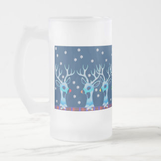 Rudolph addresses the troops frosted glass mug