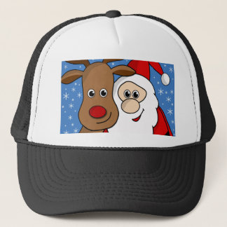 Rudolph and Santa selfie Trucker Hat